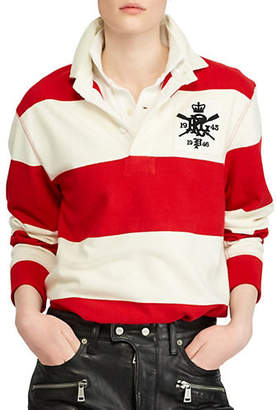 Polo Ralph Lauren Patch Long-Sleeve Cotton Rugby Shirt
