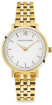 Larsson & Jennings Lugano 26mm Yellow Gold Bracelet Watch