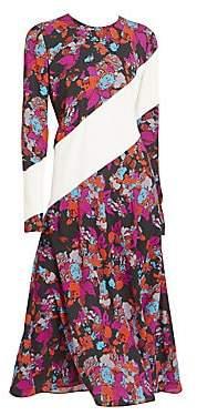 Givenchy Women's Floral Stripe Midi Dress