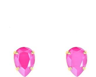 Rosaspina Firenze Peony Pink Drop Stud Earrings