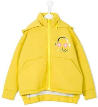 Fendi detachable hood zipped sweatshirt