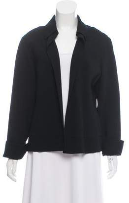 Ellen Tracy Linda Allard Wool Open Front Cardigan
