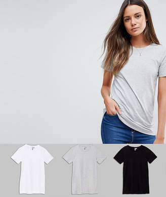 Asos Tall DESIGN Tall ultimate crew neck t-shirt 3 pack SAVE