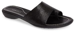 Women's Vaneli 'Tallis' Snake Embossed Leather Slide Sandal $119.95 thestylecure.com