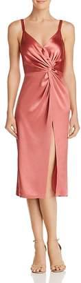 Jill Stuart Satin Twist-Front Dress