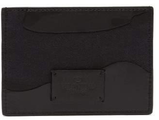 Valentino Camouflage Trim Leather Cardholder - Mens - Black