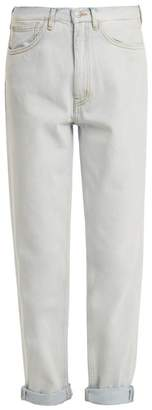 MiH Jeans Linda High Rise Tapered Jeans - Womens - Light Blue