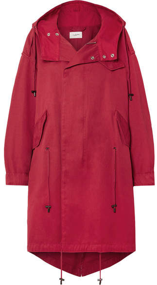 Isabel Marant Étoile - Duffy Oversized Hooded Cotton-canvas Coat - Red
