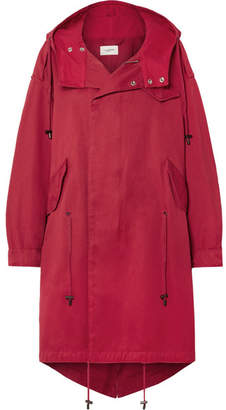 Etoile Isabel Marant Duffy Oversized Hooded Cotton-canvas Coat - Red