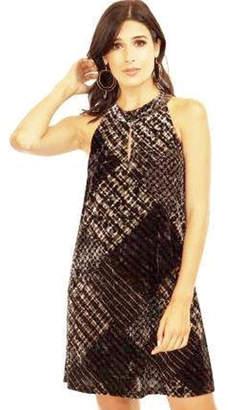 Veronica M Velvet Halter Keyhole Dress