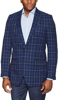 Haggar Men's Plaid Fancy Tailored Fit 2-Button Side Vent Sport Coat