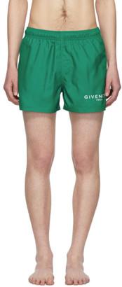 Givenchy (ジバンシイ) - Givenchy グリーン ロゴ スイム ショーツ