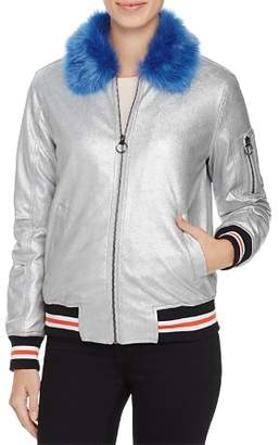 Louise Paris Metallic Puffer Bomber Jacket - 100% Exclusive