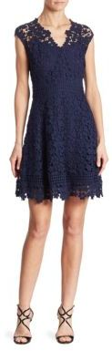 Shoshanna Buchanan Cotton Lace Fit-&-Flare Dress $405 thestylecure.com