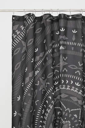 H&M Patterned Shower Curtain - Gray