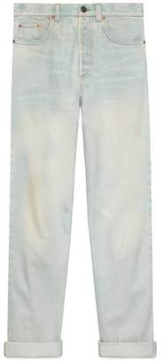 Gucci 80s stone washed denim pant