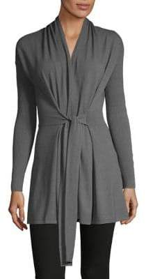 INC International Concepts Heathered Open-Front Cardigan