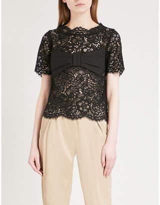 Claudie Pierlot Floral-lace top