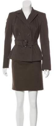 Akris Long Sleeve Knee-Length Skirt Suit