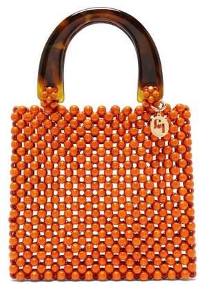 Rosantica By Michela Panero - Marv Tortoiseshell Handle Wooden Beaded Bag - Womens - Orange Multi