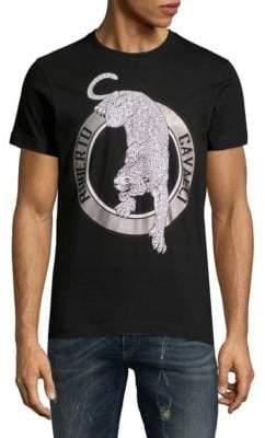 Roberto Cavalli Crewneck Logo Jersey T-Shirt