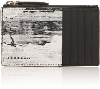 Burberry Printed Leather Zip Card Case