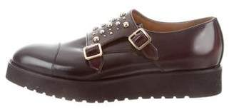 Doucal's Leather Platform Oxfords