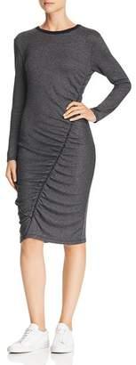 Splendid Long-Sleeve Ruched Dress