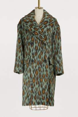Kenzo Mohair Leopard coat