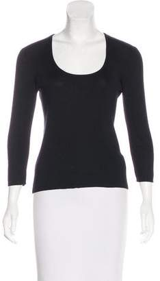 Henri Bendel Scoop Neck Knit Top