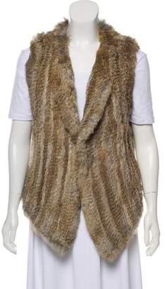 Joie Collarless Fur Vest