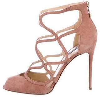 Dolce & Gabbana Suede Cage Sandals