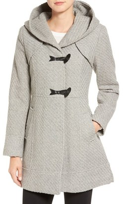 Women's Jessica Simpson Hooded Basket Weave Duffle Coat $240 thestylecure.com