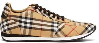 Burberry Vintage Check Low Top Trainers - Mens - Multi