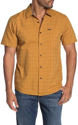 Volcom Frequency Dot Print Short Sleeve Modern Fit Shirt