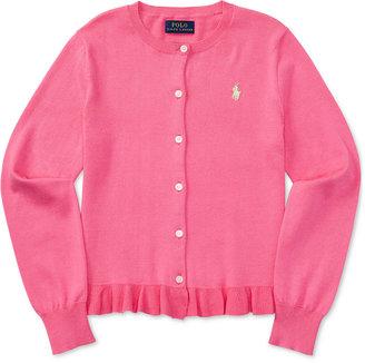 Ralph Lauren Pima Cardigan, Big Girls (7-16) $49.50 thestylecure.com