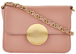 As Is Isaac Mizrahi Live! Whitney Lamb Leather Crossbody