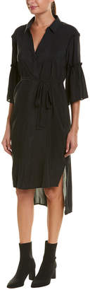 BCBGeneration Ruffle Shift Midi Dress