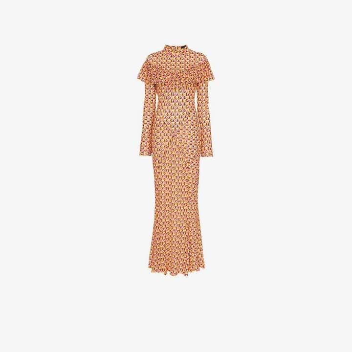 De La Vali Josephine circle print ruffle dress