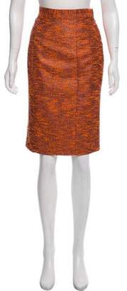 Hunter Dixon Metallic-Accented Bouclé Skirt