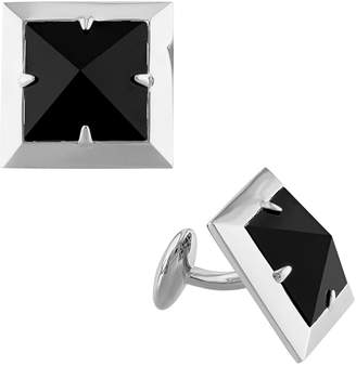 ba6a8880b Stella Grace V19.69 Italia Men s Sterling Silver Onyx Pyramid Cuff Links