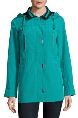 Gallery Zip Front Hooded Jacket