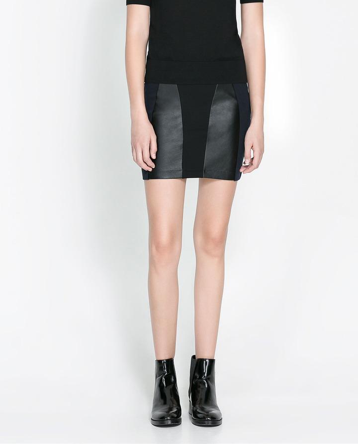 Zara Short Combination Skirt