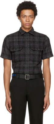 Raf Simons Grey Wool Check Shirt