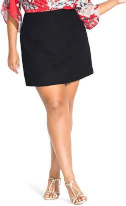 City Chic Boucle Short Skirt