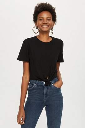 Topshop Petite Knot Front T-Shirt