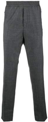 Stella McCartney plaid elasticated waistband trousers