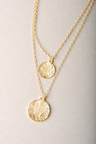 Katie Costello Layered Coin Necklace