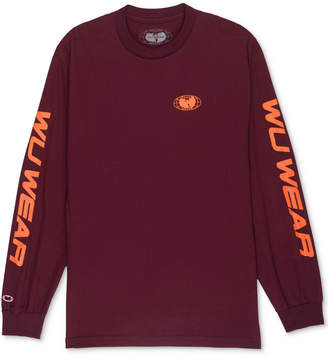 Wu Wear Men's Long-Sleeve Logo Print T-Shirt