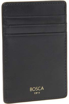 Bosca Old Leather Collection - Deluxe Front Pocket Wallet Bi-fold Wallet